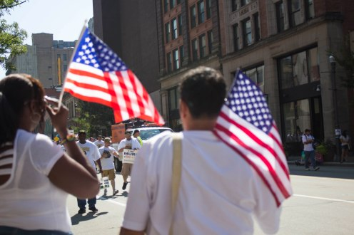 Aperture - Labor Day Parade Flags
